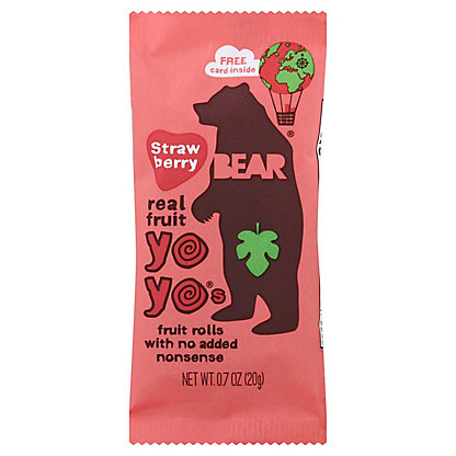 Bear Yoyo Fruit Roll Strawberry, 0.7 oz