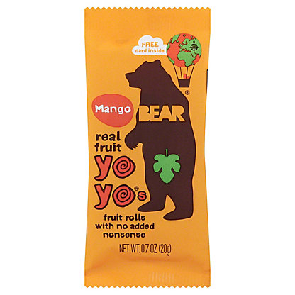 Bear Yoyos Fruit Roll Mango, 0.7 oz