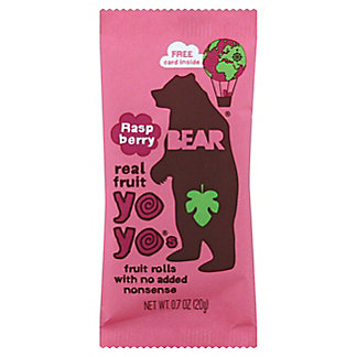 Bear Yoyo Fruit Roll Raspberry, 0.7 oz