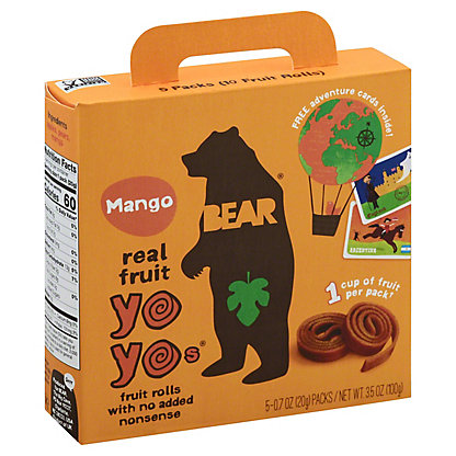 Bear Yoyo Fruit Roll Mango, 5 ct