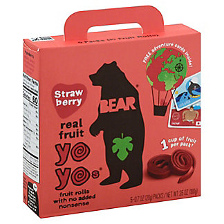 Bear Yoyos Fruit Roll Strawberry, 5 ct