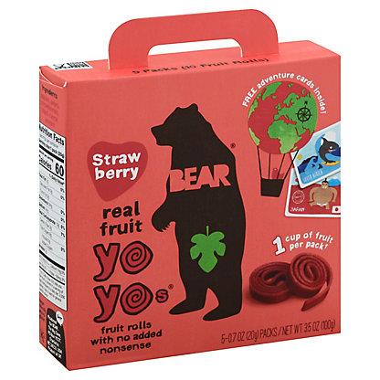 Bear Yoyos Fruit Roll Strawberry, 5 ct