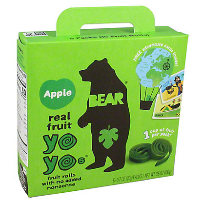 Bear Yoyos Fruit Roll Apple, 3.5 oz