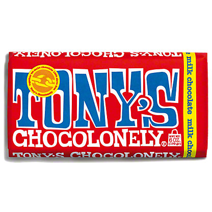 Tonys Chocolonely Milk Chocolate Bar 32%, ea
