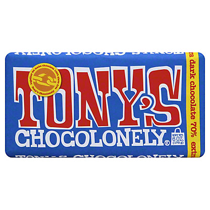 Tonys Chocolonely Tonys Chocolonely Dark Chocolate Bar 70%, ea