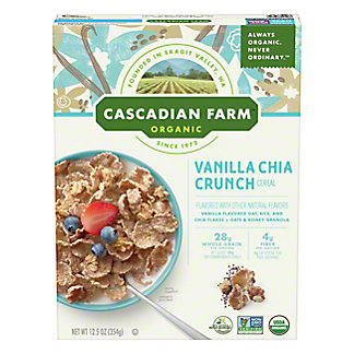 Cascadian Farm Organic Vanilla Chia Crunch Cereal, 12.5 oz