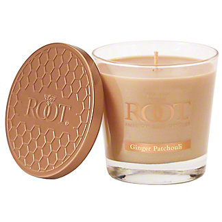 Root Small Veriglass Ginger Patchoulli Candle, 6.3 oz