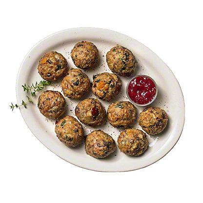 Turkey, Butternut, and Cranberry Meatballs, doz