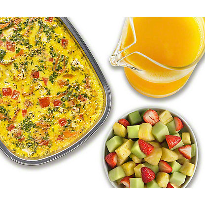 Egg Casserole with Smoked Salmon and Potato Breakfast Package, Serves 4-6
