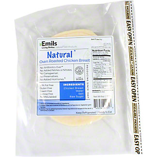 Emils Natural Oven Roasted Chicken, 6 oz