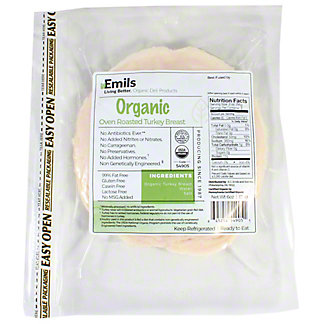 Emils Organic Oven Roasted Turkey, 6 oz