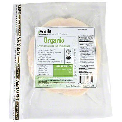 Emils Organic Oven Roasted Turkey, 6 oz