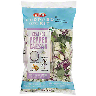 H-E-B Select Ingredients Cracked Pepper Caesar Chopped Salad Kit, 11.3 oz