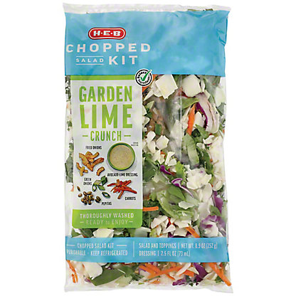 H-E-B Select Ingredients Garden Lime Crunch Chopped Salad Kit, 11.4 oz