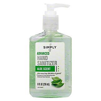 Simply U Advanced Hand Sanitizer With Aloe, 8 oz