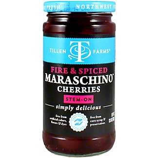 Tillen Farms Fire & Spiced Maraschino Cherries, 13.5 oz