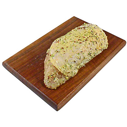 Fresh Parmesan & Garlic Boneless Skin On Chicken Breasts, LB
