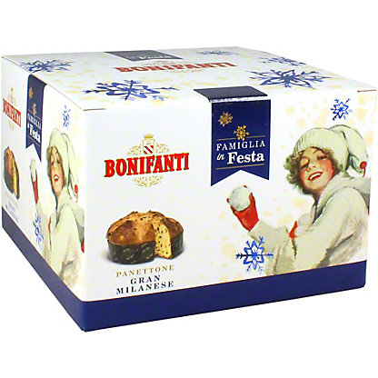 Bonifanti Classic Panettone In Blue Box, 1.1 LB