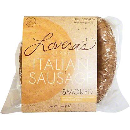 Loveras Smoked Italian Sausage With Caciocavera, 16 oz