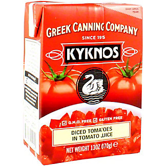 KYKNOS [52472] Diced Tomatoes In Tomato Juice, 13 OZ