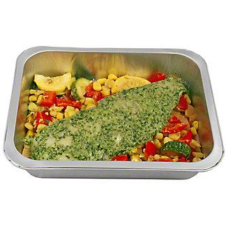 Ready to Cook Cilantro Adobo Tilapia with Southwest Vegetable Saute, ea