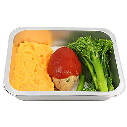 Ready to Cook Turkey Chile Meatloaf with Whipped Sweet Potatoes, Broccolini with Garlic, ea