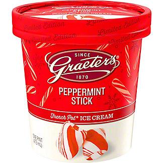 Graeters Peppermint Stick Ice Cream, 1 pt