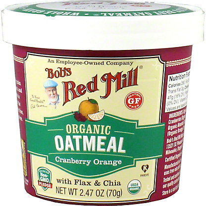 Bobs Red Mill Organic Oatmeal Cup Cranberry Orange, 2.47OZ