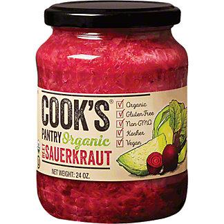 Cooks Pantry Beet Sauerkraut Organic, 24 oz