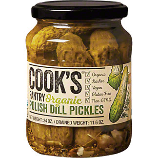 Cooks Pantry Organic Polish Dill Pickles, 24 oz