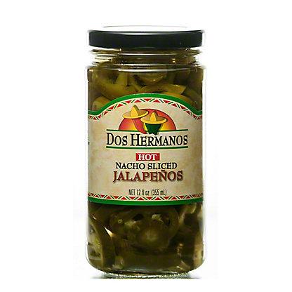 Dos Hermanos Nacho Sliced Hot Jalapenos, 12 oz