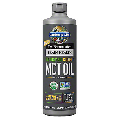 Garden Of Life Dr Formulated Brain Health 100% Coco MCT Oil, 1.1 lb