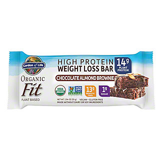 Garden Of Life Organic Fit Weight Loss Bar Chocolate Almond Brownie, 1.9 oz