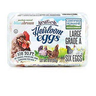 Nestfresh Heirloom Large Grade A Eggs, 6 ct