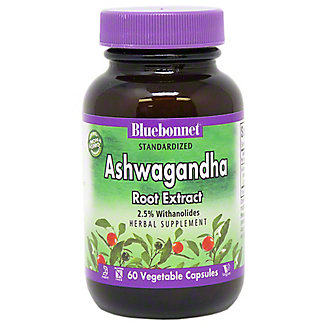 Bluebonnet Nutrition Ashwagandha Root Extract, 60  ct