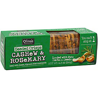 Olina's Bakehouse Cashew & Rosemary Seeded Crisps  , 5.3 oz