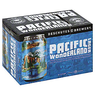 Deschutes Pacific Wonderland Lager  Beer 12 oz  Cans, 6 pk