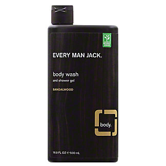 Every Man Jack Sandalwood Body Wash, 16.9 oz