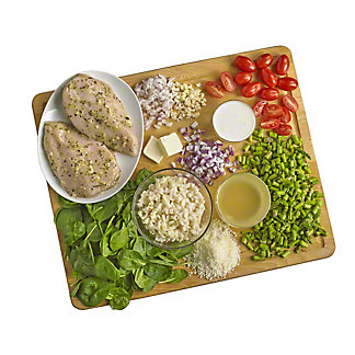 Ready to Cook Lemon Rosemary Chicken with Asparagus Risotto and Wilted Spinach Meal Kit, ea