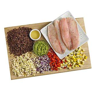 Ready to Cook Tilapia with Basil Pesto Quinoa Meal Kit, ea