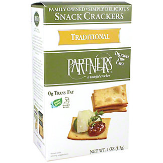 Partners Snack Crackers Traditional, 4 oz