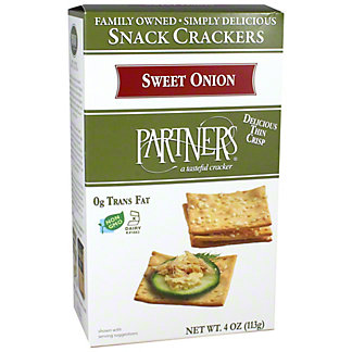 Partners Snack Crackers Sweet Onion, 4 oz