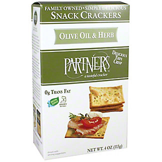 Partners Snack Crackers Olive Oil & Herb, 4 oz