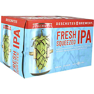Deschutes Fresh Squeezed IPA Beer 12 oz Cans, 6 pk