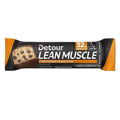 Detour Lean Muscle Cookie Dough Caramel Crisp Protein Bar, 3.2 oz