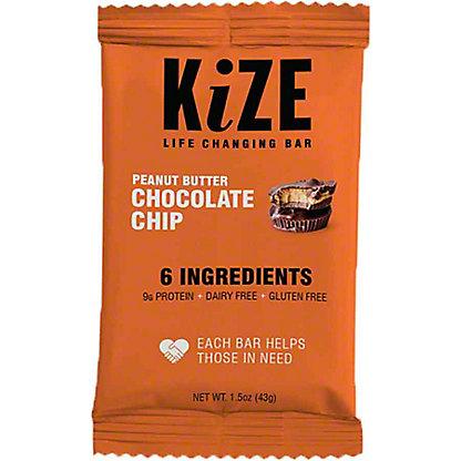 Kize Raw Energy Bar Peanut Butter Chocolate Chip, 1.5OZ