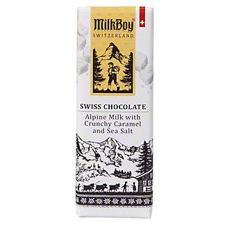 Milkboy Swiss Milk Chocolate Caramel Sea Salt Bar, 1.4 oz