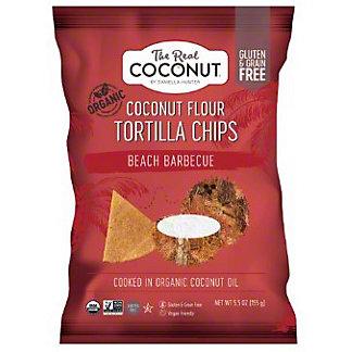 The Real Coconut Tortilla Chip Coconut Flour Beach BBQ, 5.5 oz