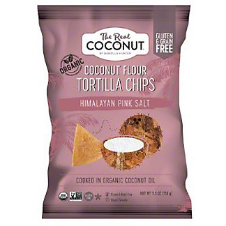 The Real Coconut Tortilla Chip Coconut Flour Himalayan Salt, 5.5 oz