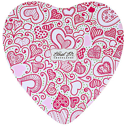 ETHEL M CHOCOLATES Whimisical White Heart Tin, INCH